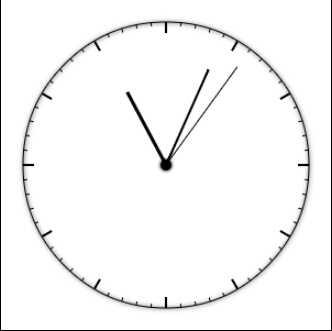 可爱时钟怎么画