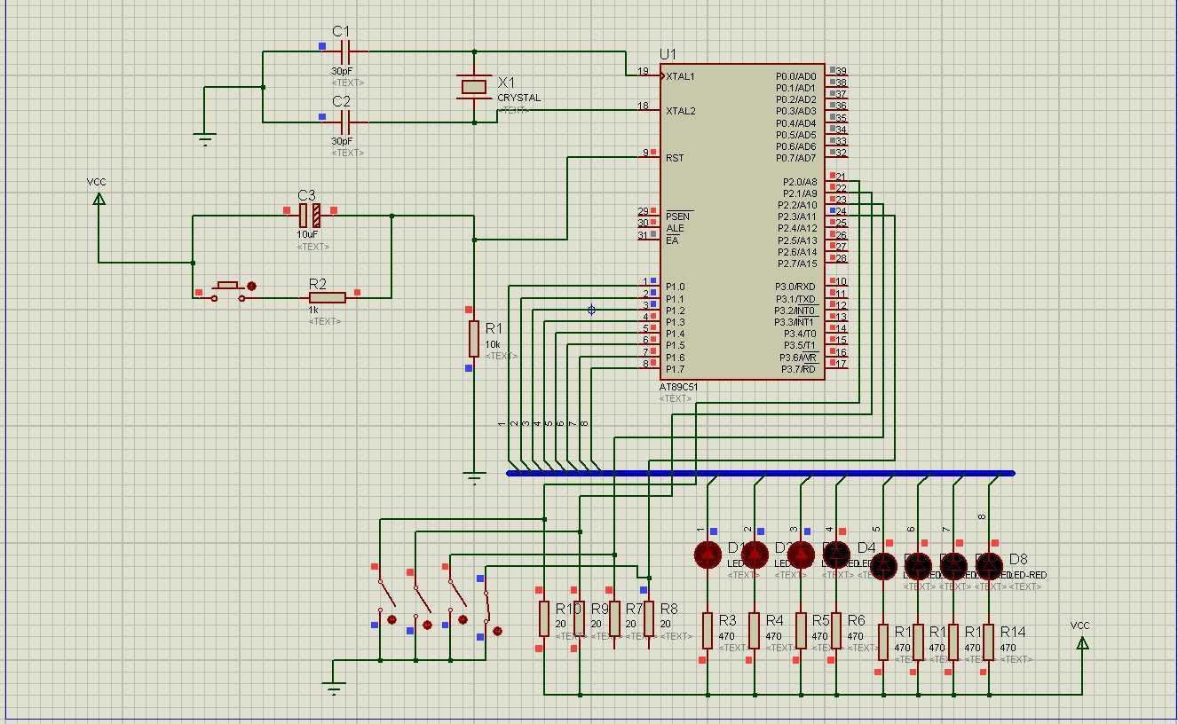 (四)开关控制的 跑马灯 以及流水灯 电路图以及程序