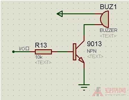 以2khz的频率来驱动蜂鸣器,使他发出声音; 上图为s5pv210的蜂鸣器电路