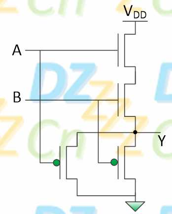计算器入戏太深谱子-你自己看看,只有当输入A与B都为高电平时,输出Y才被上拉为高电平