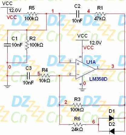 文氏电桥振荡电路原理详解及multisim实例仿真