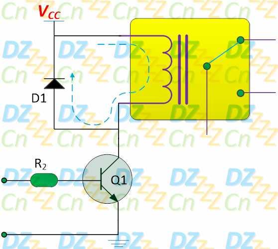 """其他 > 详细  当输入为低电平""""l""""时,三极管q1是截止的,因此电灯泡两端"""