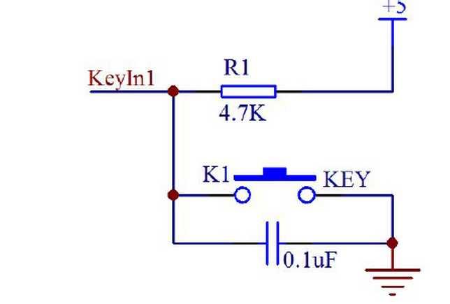 不然利用硬件消抖,一般在按键端接入4.7k电阻加0.
