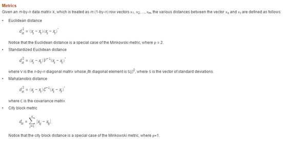 matlab的pdist函數詳解- IT閱讀