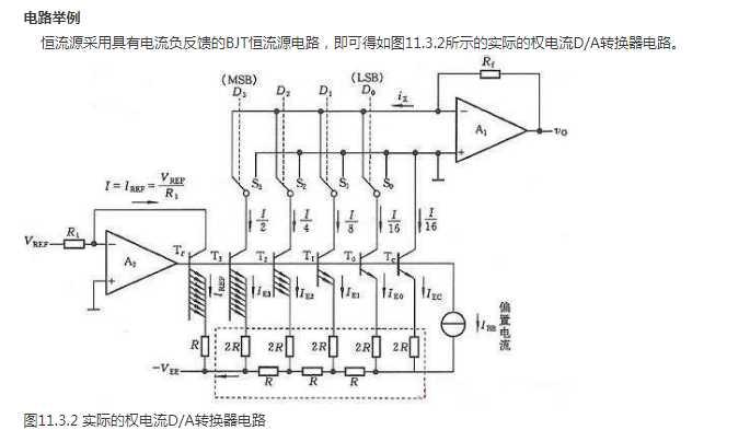 转换速度,但由于电路中存在模拟开关电压降,当流过各支路的电流稍有